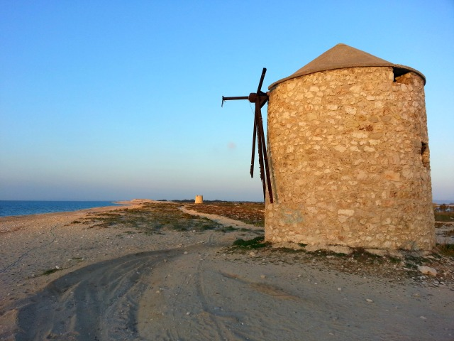 Beach Lefkada windmill